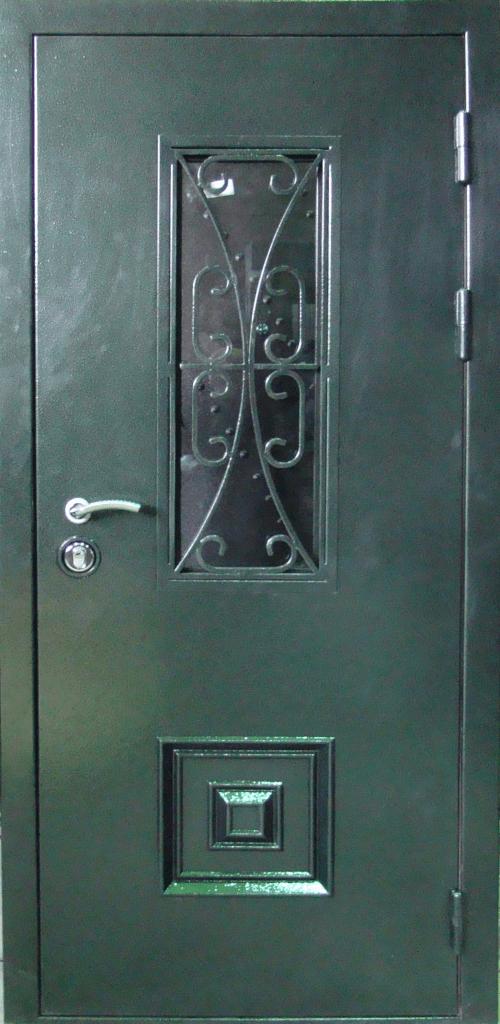 двери входные с ковкой и стеклопакетом в красногорске