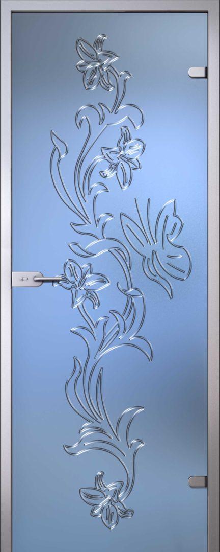 Стеклянная дверь Орхидея