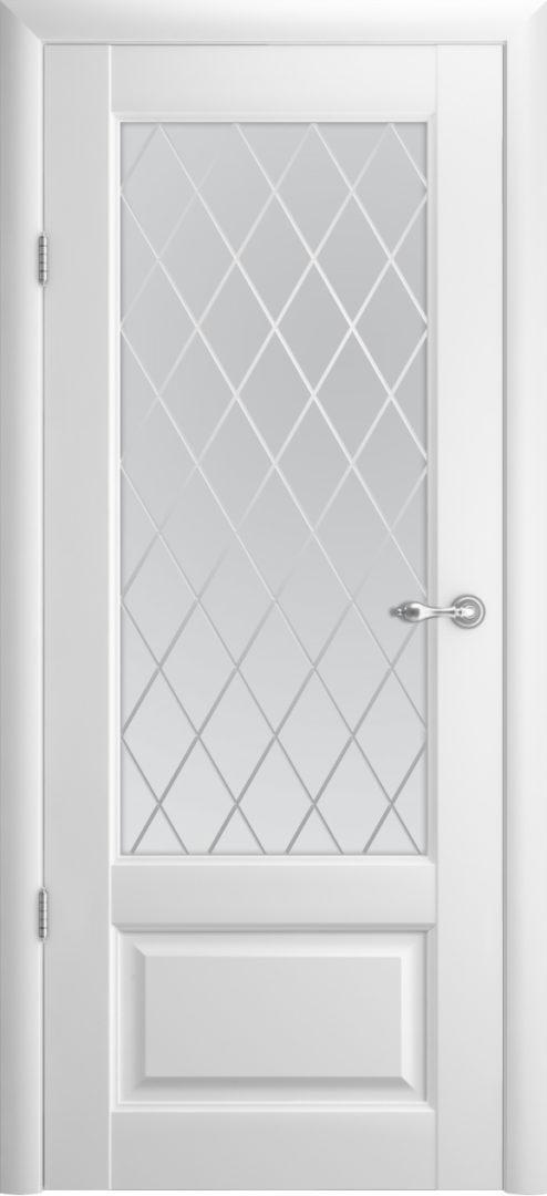 Межкомнатная дверь Эрмитаж 1 ПО Ромб — белый