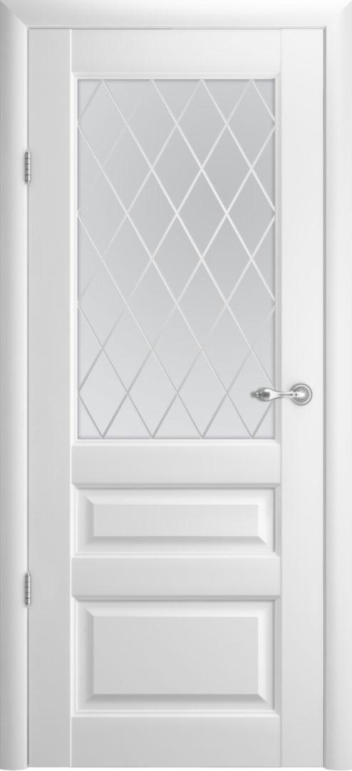 Межкомнатная дверь Эрмитаж 2 ПО Ромб — белый