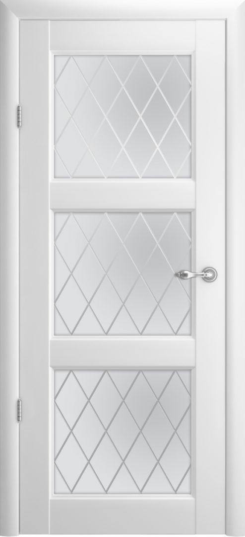 Межкомнатная дверь Эрмитаж 3 ПО Ромб — белый