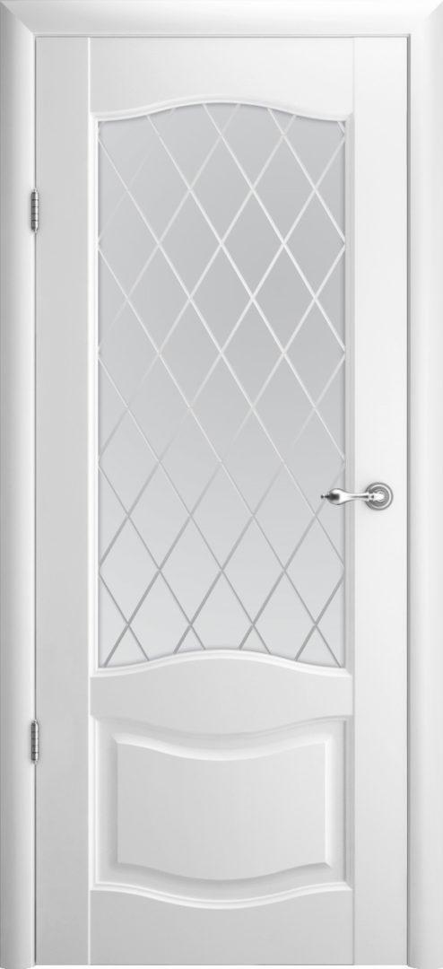 Межкомнатная дверь Лувр 1 ПО Ромб — белый
