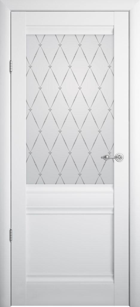Межкомнатная дверь Рим ПО белая