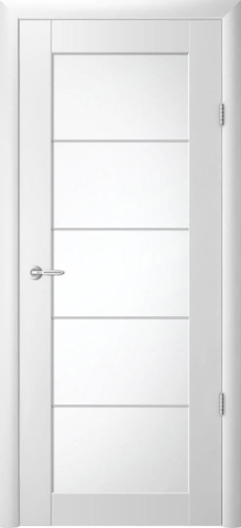 Межкомнатная дверь Сан-ремо 5 «молдинг» Белый винил