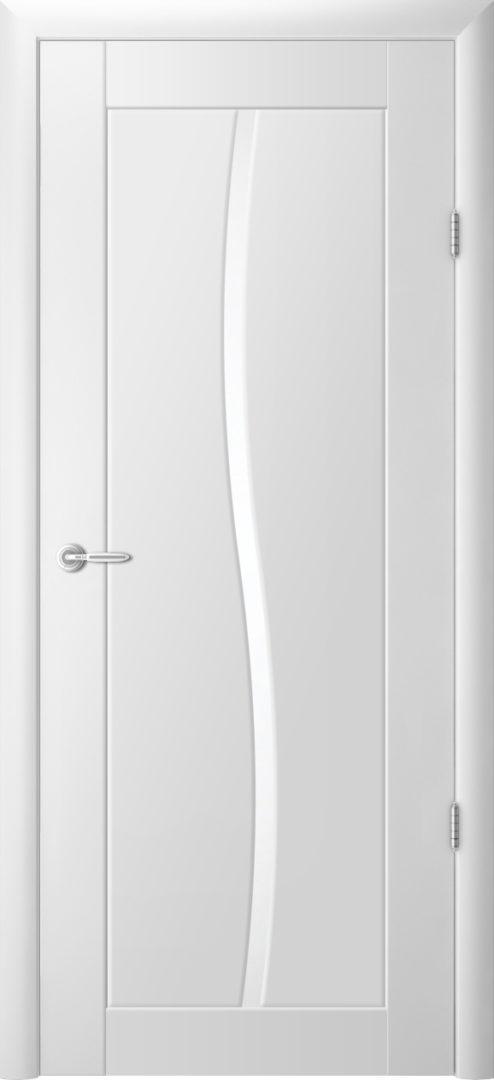 Межкомнатная дверь Токио- 1 Белый винил