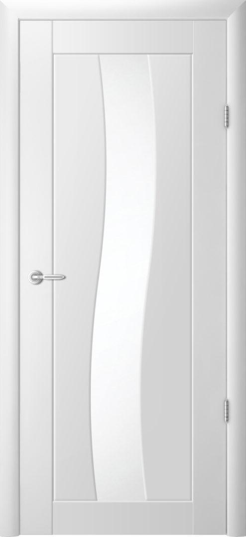 Межкомнатная дверь Токио- 3 Белый винил