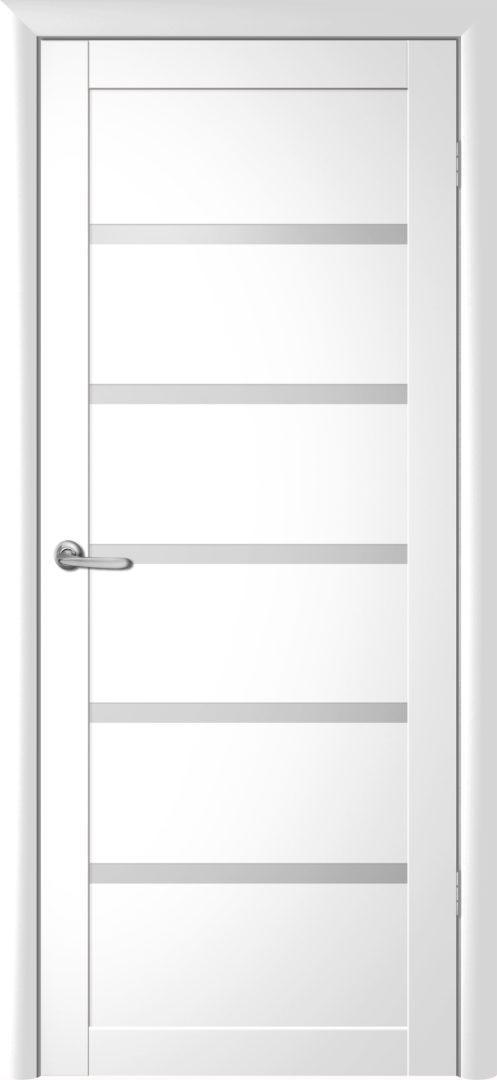Межкомнатная дверь Вена — Белый винил