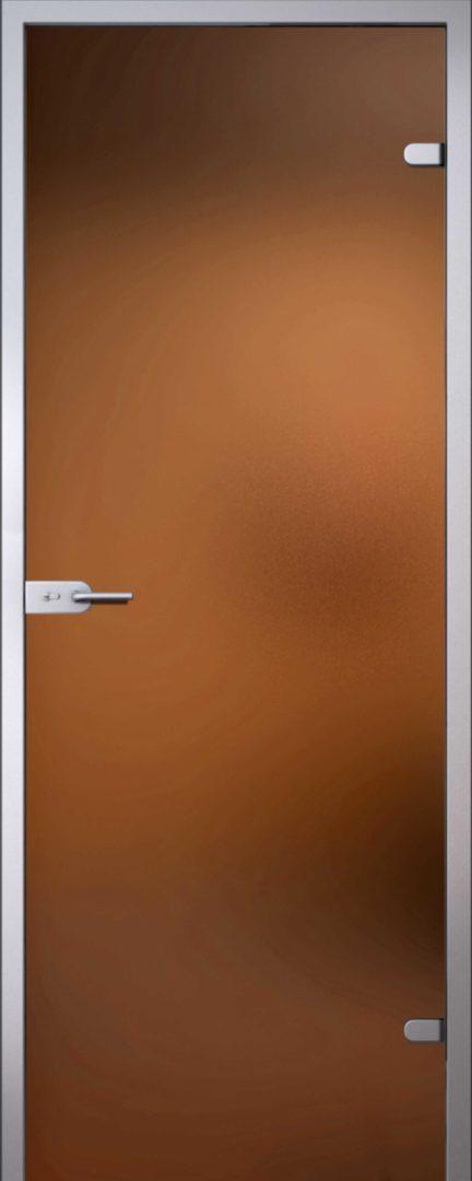 Стеклянная дверь Light Бронза матовая