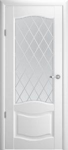 Межкомнатная дверь Лувр 1 ПО Ромб – белый