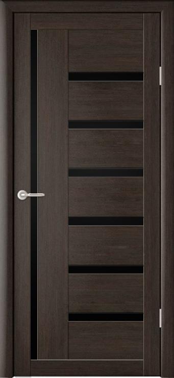 Межкомнатная дверь Мадрид с черным стеклом
