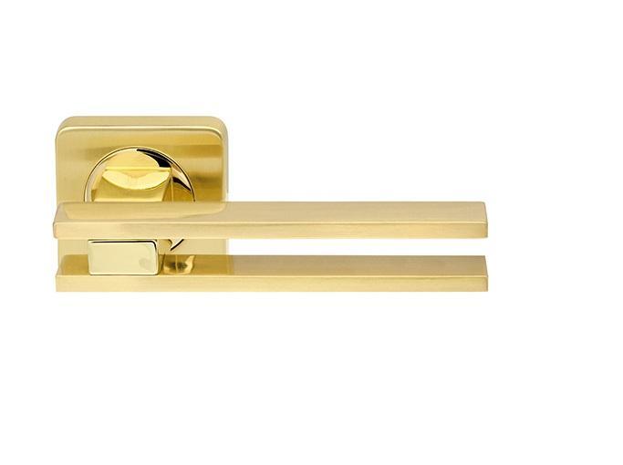 Дверная ручка BRISTOL SQ006-21SG/GP-4