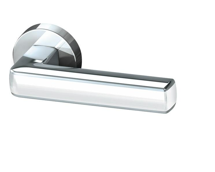 Дверная ручка CUBE URB3 CP/White-14