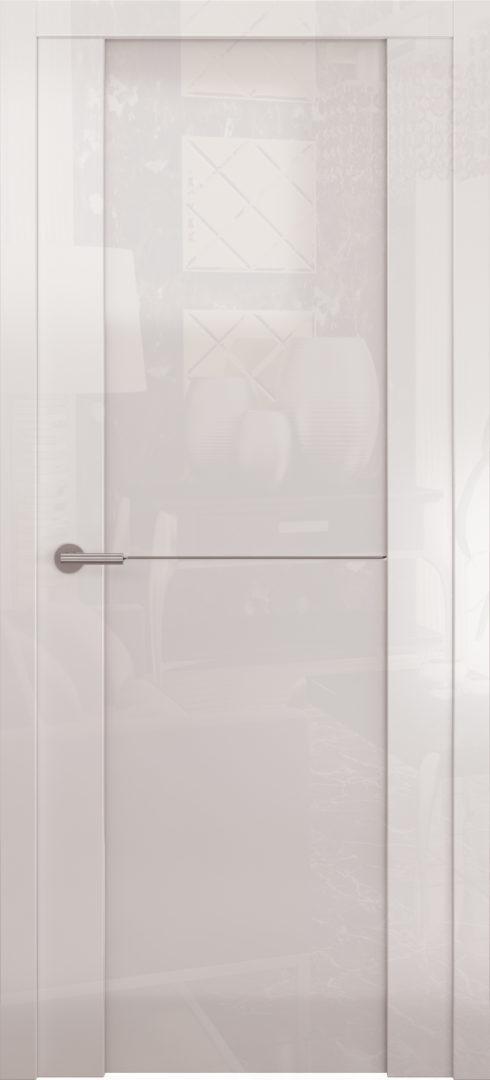 Глянцевая дверь «Avorio-1» белое стекло