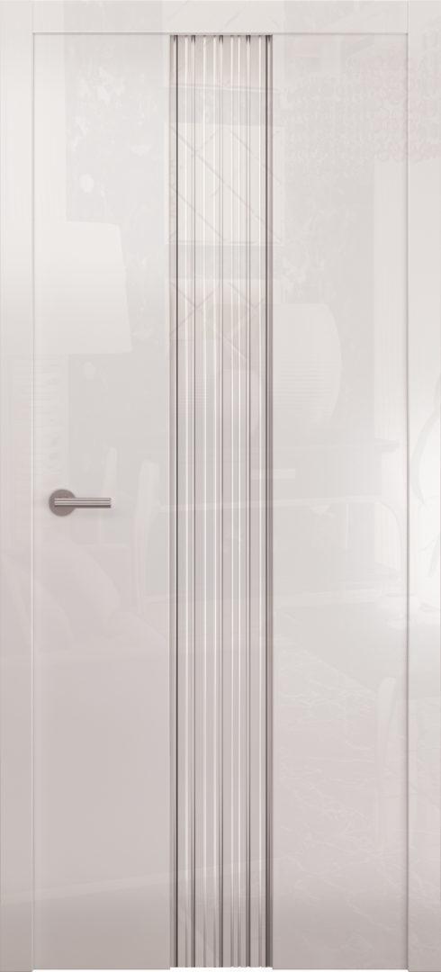 Глянцевая дверь «Avorio-3» белое стекло