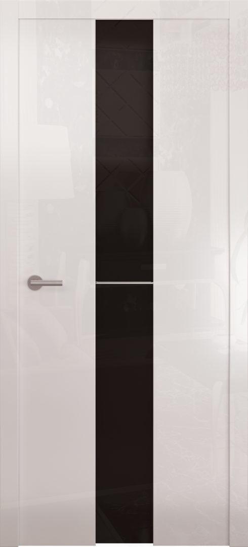Глянцевая дверь «Avorio-4» черное стекло