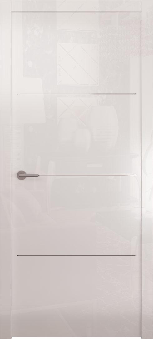 Глянцевая дверь «Avorio-2» глухая