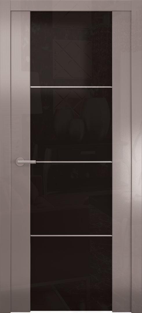 лянцевая дверь «Avorio-2» черное стекло