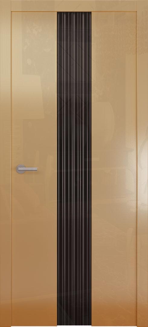 Глянцевая дверь «Avorio-3» черное стекло