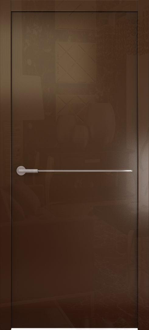 Глянцевая дверь «Avorio-1» глухая