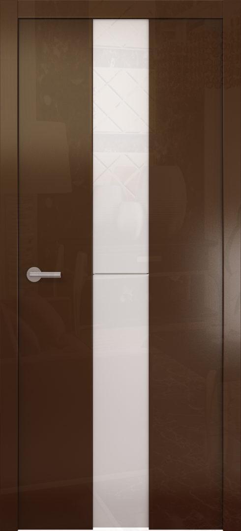 Глянцевая дверь «Avorio-4» белое стекло