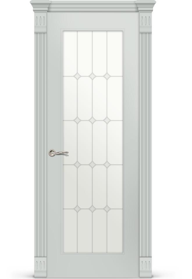 Межкомнатная дверь Эмили эмаль «Серый»