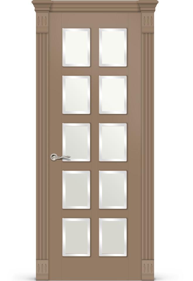 Межкомнатная дверь Ориан эмаль «Светло-коричневый»