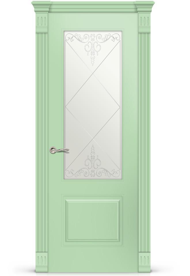 Межкомнатная дверь Вероник эмаль «Фисташка»