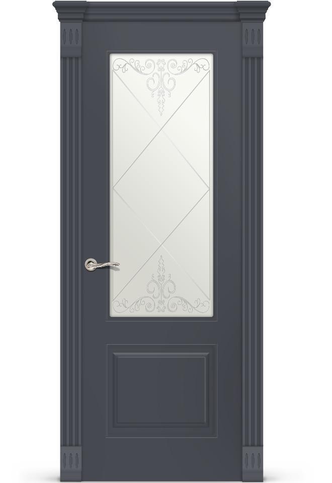 Межкомнатная дверь Вероник эмаль «Графит»