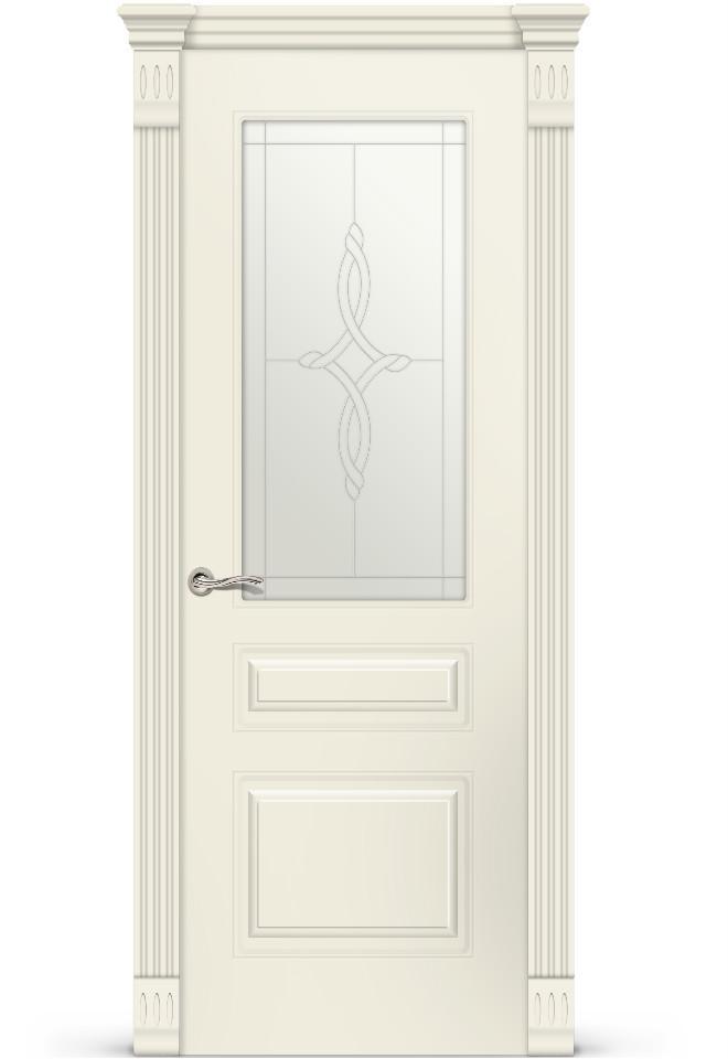 Межкомнатная дверь Вероник 2 эмаль «Крем»