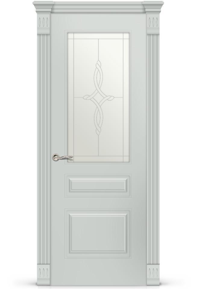 Межкомнатная дверь Вероник 2 эмаль «Серый»