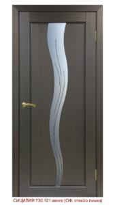 Межкомнатная дверь Сицилия 730.121 линии