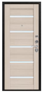 Входная дверь в квартиру Центурион С-105 Черный муар/Лиственница светлая