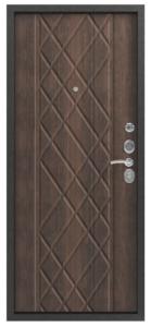 Входная дверь в квартиру Центурион С-106 Черный муар/Тиковое дерево