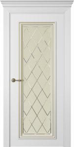 """Межкомнатная дверь Дрезден-1 стекло Агата эмаль """"Латте"""""""