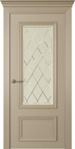 """Межкомнатная дверь Дрезден-2 стекло Ромб эмаль """"Латте"""""""