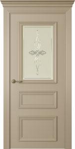 """Межкомнатная дверь Дрезден-3 стекло Агат эмаль """"Латте"""""""