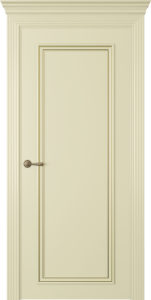 """Межкомнатная дверь Дрезден-1 эмаль """"Белый шелк"""""""